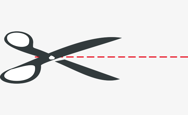 Shear Line Vector, Shear Line, A Cutting Line PNG and Vector for.