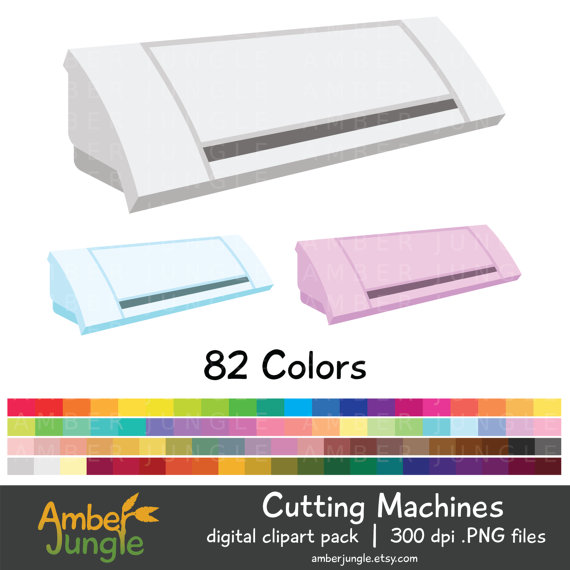 Cutting Machine Clipart Clip Art for Planner by AmberJungle.