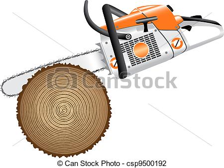 Vector Illustration of cutting trees csp9500192.
