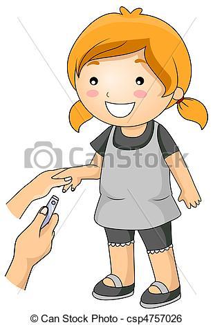 Cutting Nails.