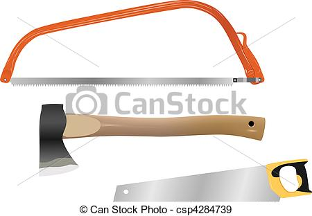 EPS Vectors of wood cutting tools.