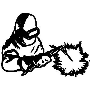 Welding Cutting Torch Clipart.