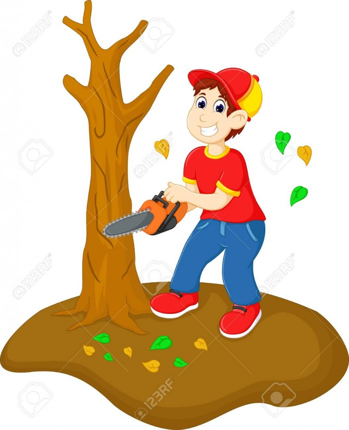Cutting Trees Clipart Vector, Clipart, PSD.