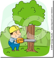 Cutting trees clipart 1 » Clipart Station.