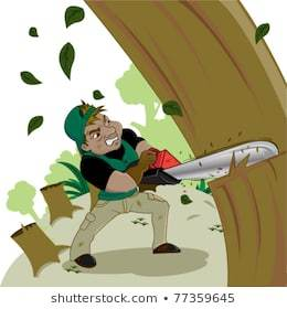 Cutting the trees clipart 6 » Clipart Portal.