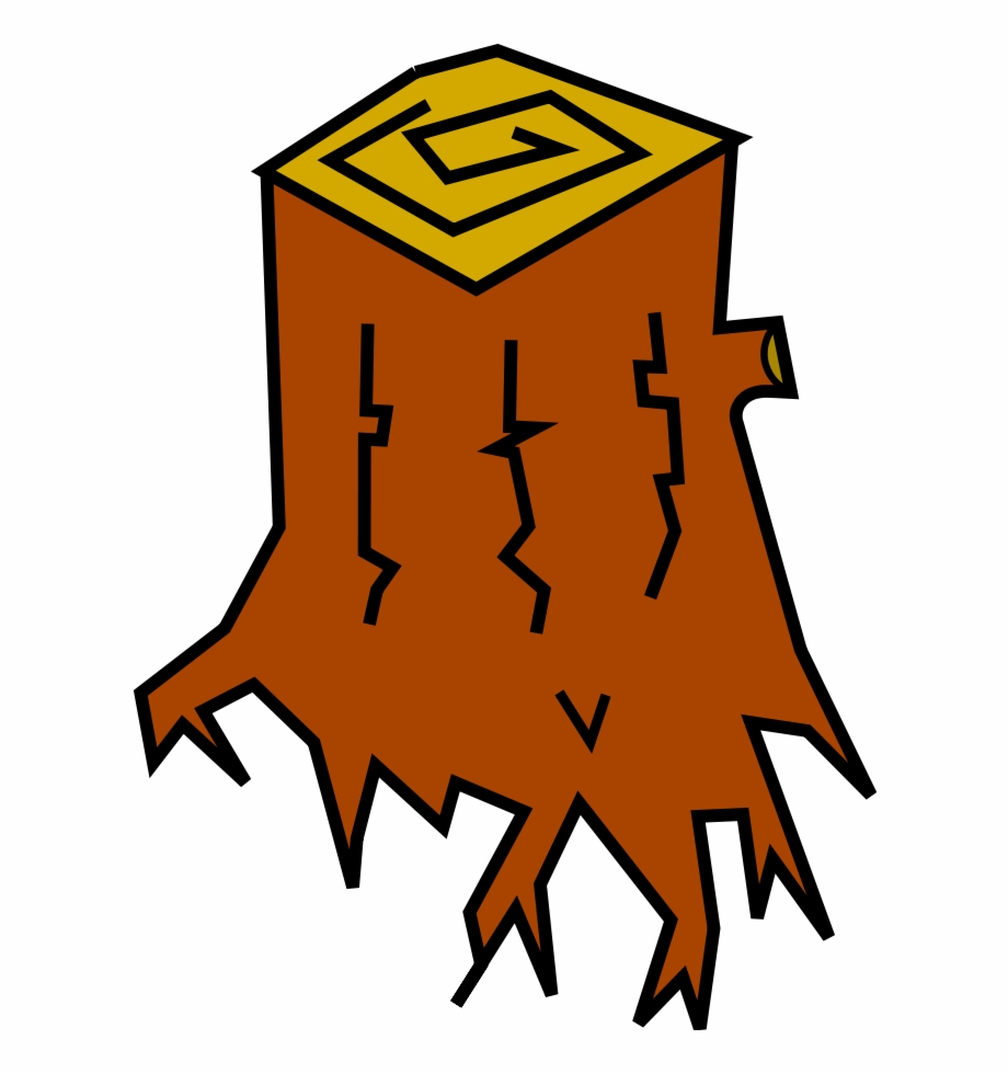 Stump Cartoon Clipart, Vector Clip Art Online, Royalty.