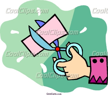 Clipart scissors cutting paper.