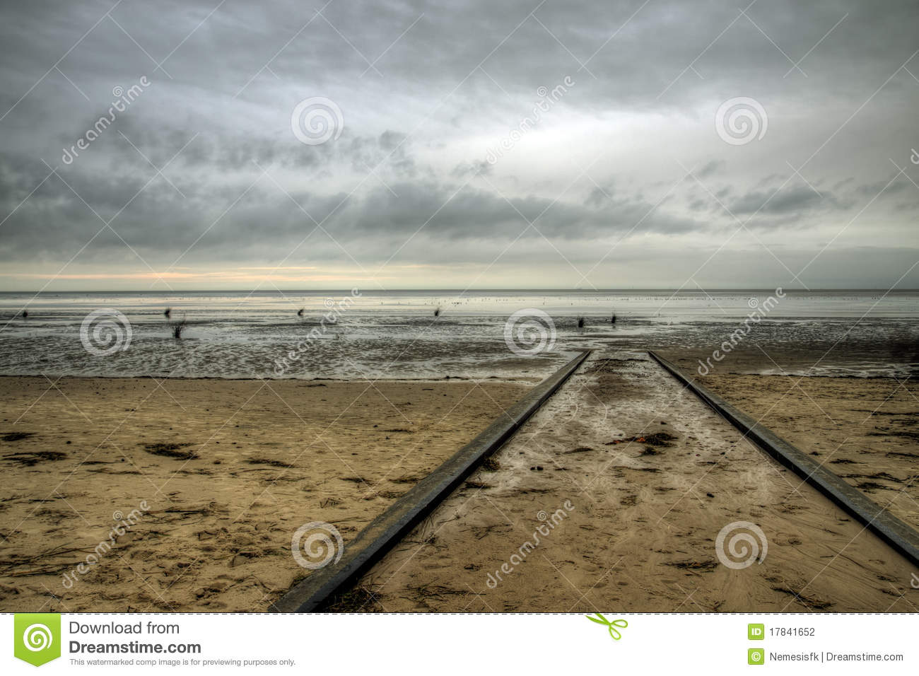 Cuxhaven Beach, Germany Stock Photography.
