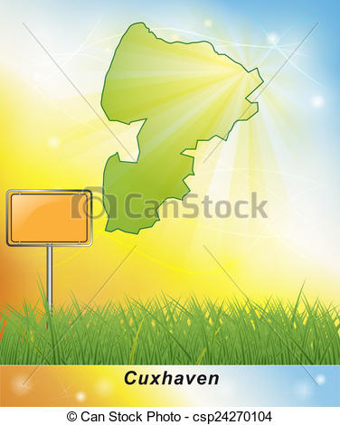 Stock Illustration of Map of Cuxhaven csp24270104.