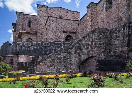Stock Photo of Cuzco: Qorikancha , San Domingo church built on.