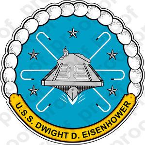 STICKER U.S. Navy USS Dwight D. Eisenhower CVN.