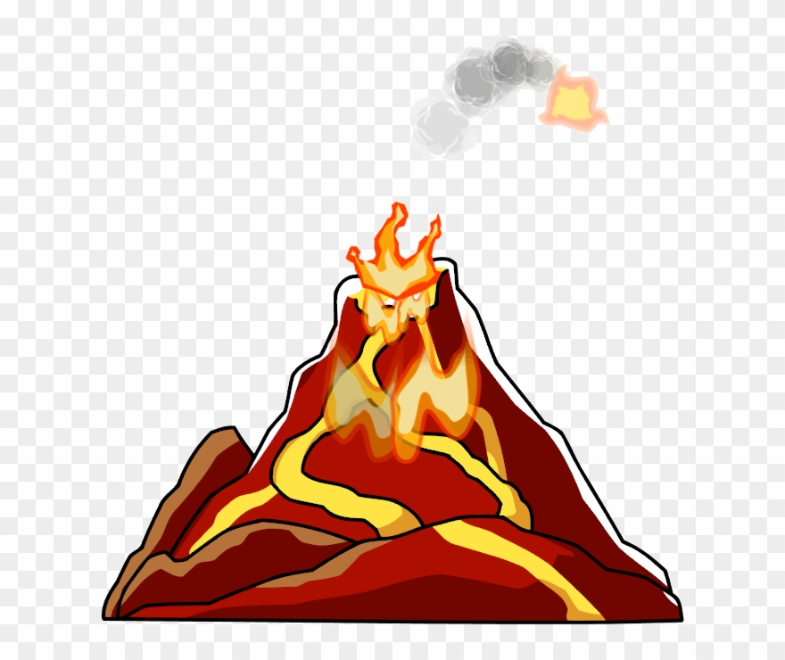 Volcano Png.