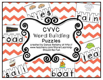 CVVC Word Building Puzzles.