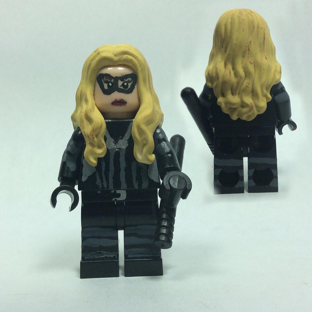 Lego CW Arrow: Black Canary (Laurel Lance) Custom Minifigu….