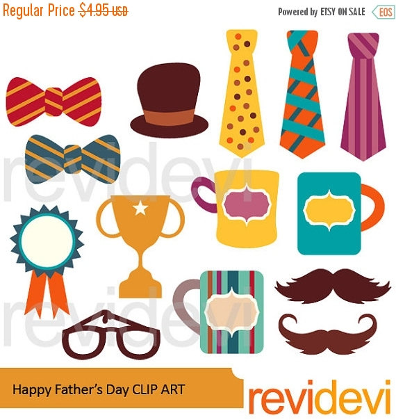45% OFF SALE Happy Father's Day Clipart Bow tie by revidevi.