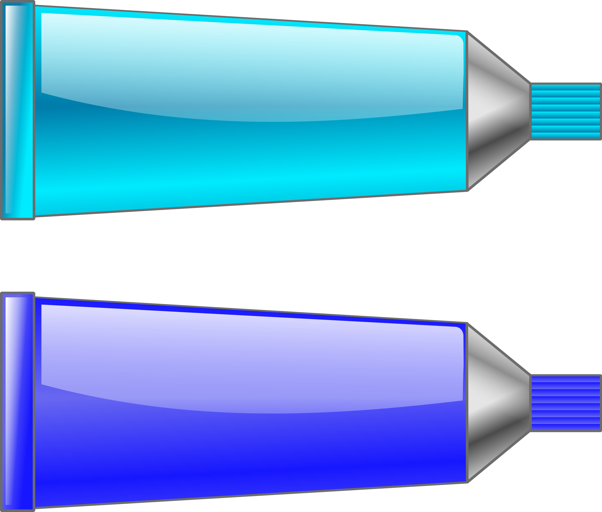 Blue color tube clipart.