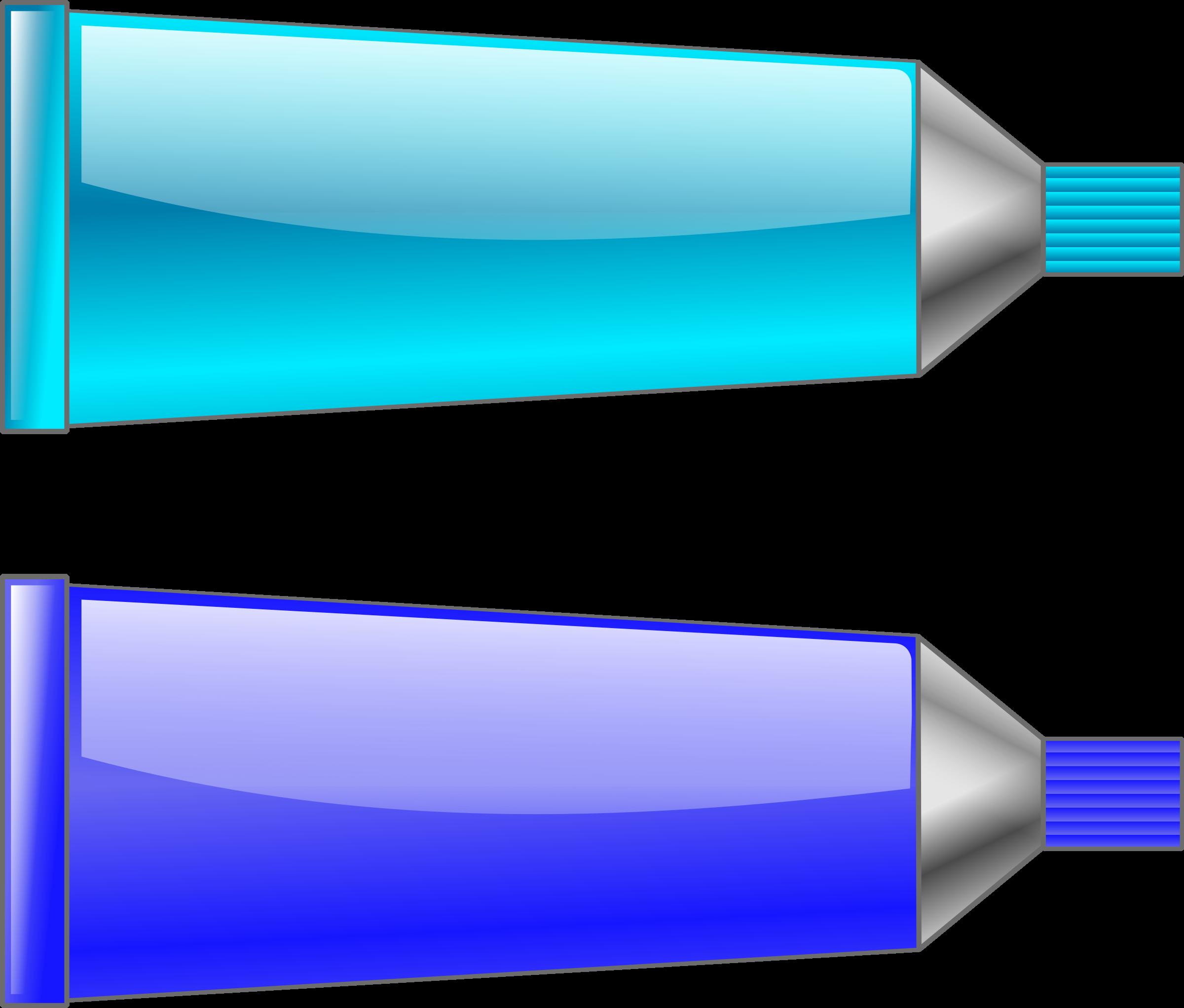 Blue color tube clipart.