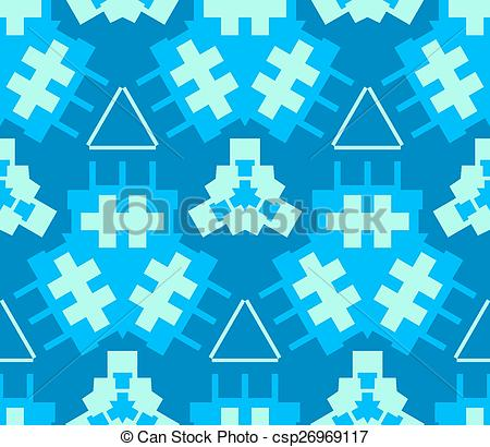 Vector Clip Art of blue cyan light green color abstract geometric.