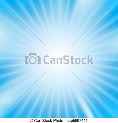 Clipart of Light burst over cyan background csp5997441.