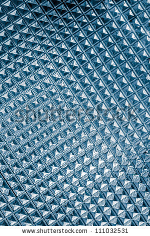 Cyan Light Blue Glass Texture Background Closeup Stock Photo.