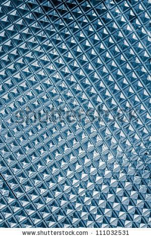 Cyan Light Blue Glass Texture Background Closeup Stock Photo.