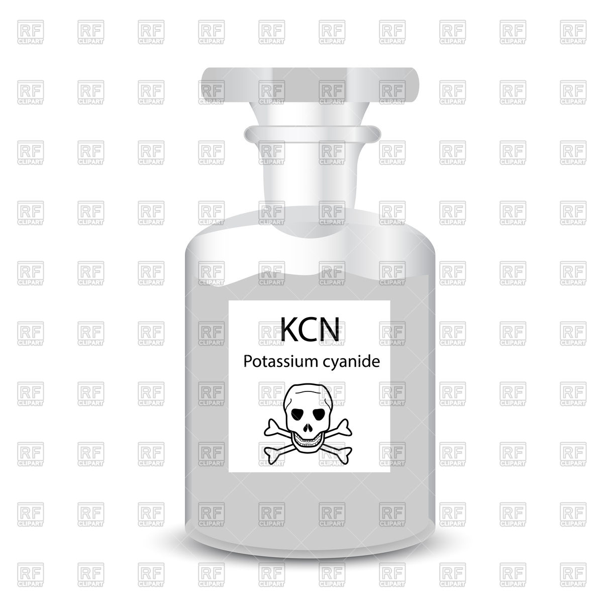 Chemical container with toxic substance granular potassium cyanide.