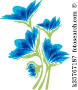 Cyanus Clip Art Illustrations. 10 cyanus clipart EPS vector.