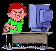 Cyber Bullying Clip Art.