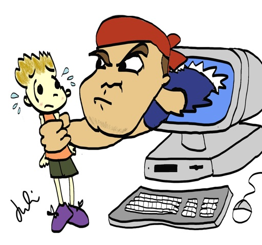 Cyber bullying clipart.