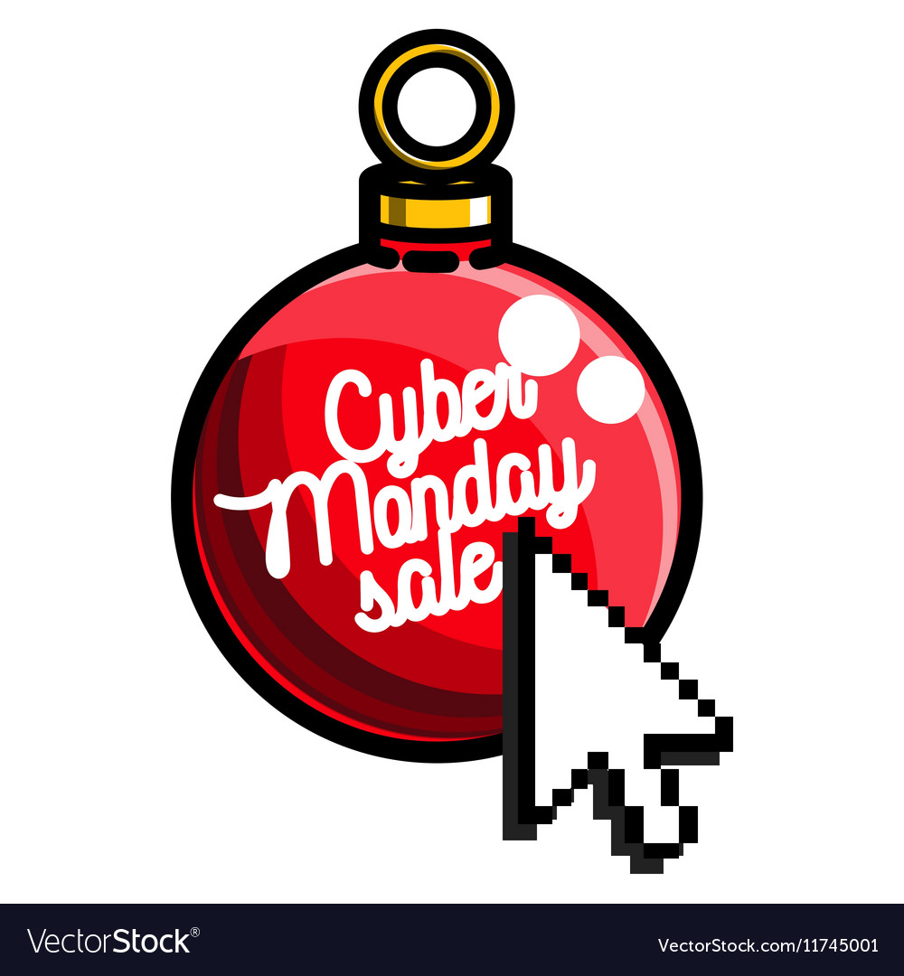 Color vintage cyber monday emblem.
