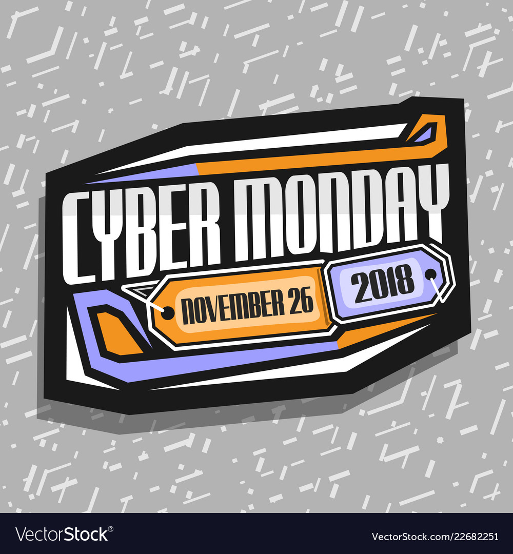 Logo for cyber monday.