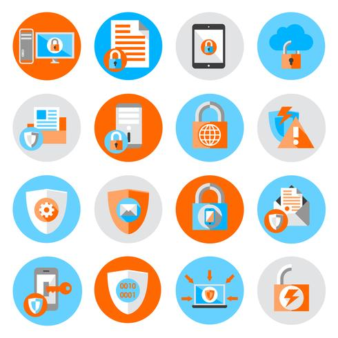 Data Protection Security Icons.
