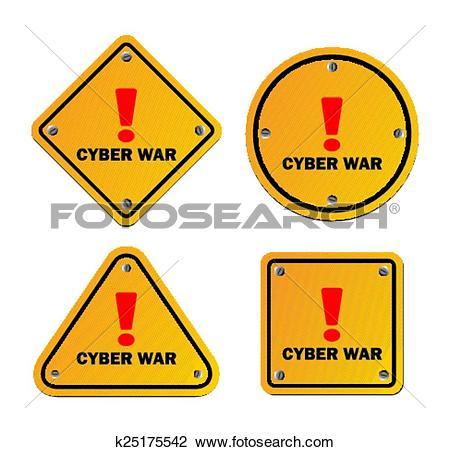 Clipart of cyber war.