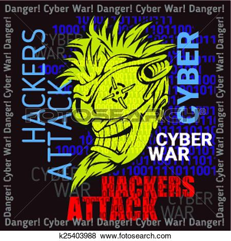 Clip Art of Hackers Attack.