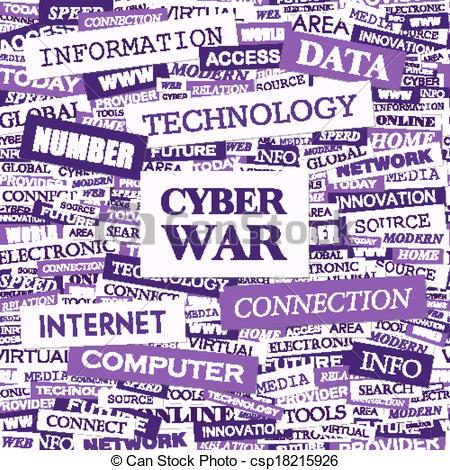 Vector Illustration of CYBER WAR. Concept illustration. Graphic.