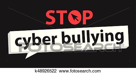Stop cyberbullying Clipart.