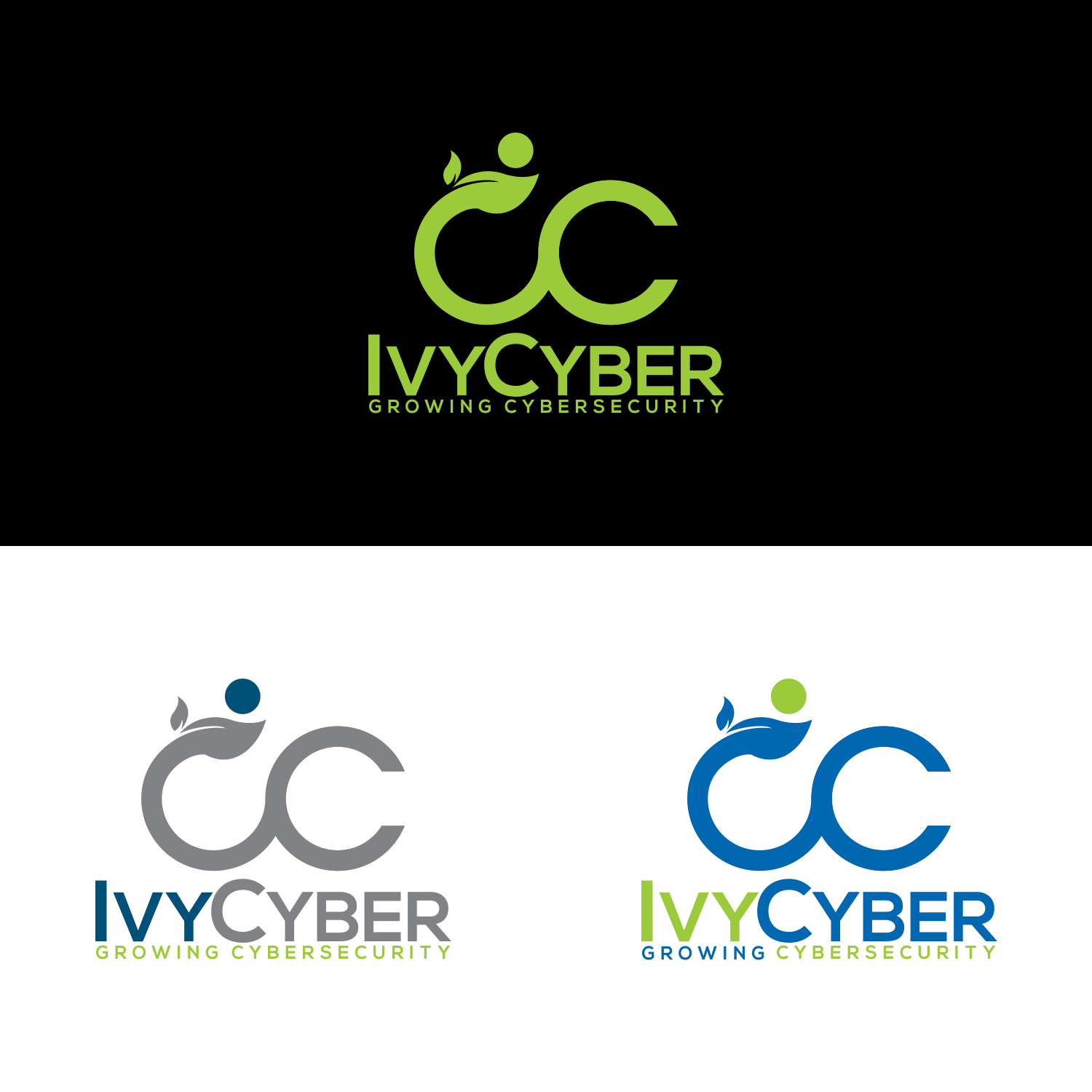Elegant, Playful Logo Design for Ivy Cyber Growing.