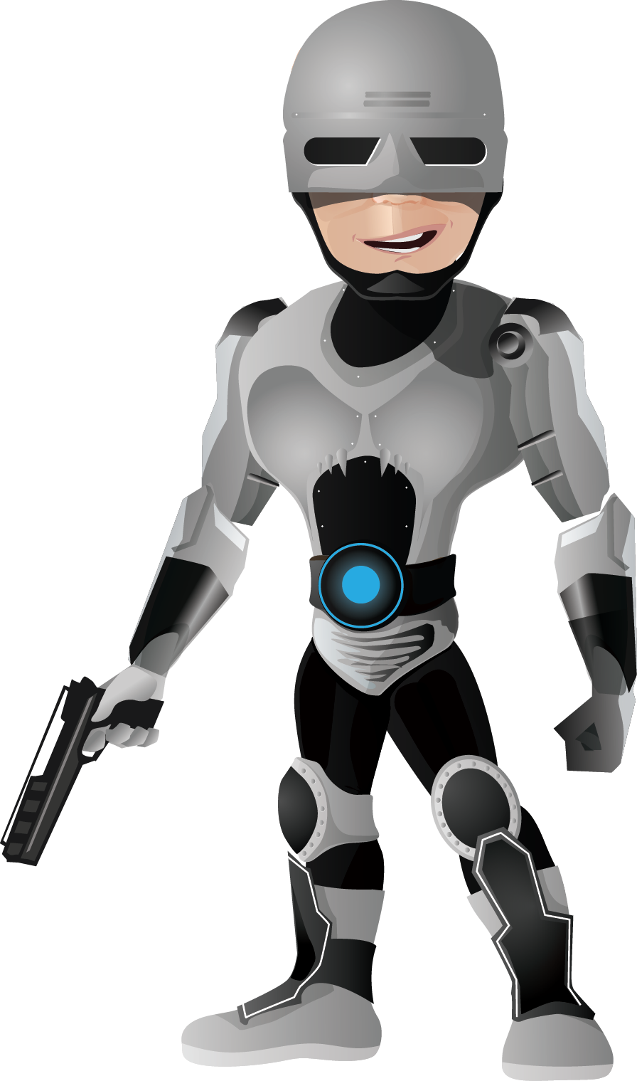 Cyborg clipart.