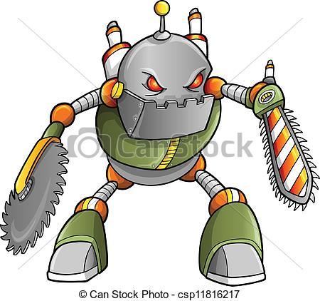 Cyborg evil Vector Clipart Royalty Free. 87 Cyborg evil clip art.