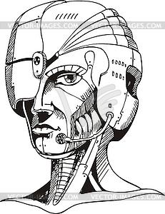 of cyborg woman.