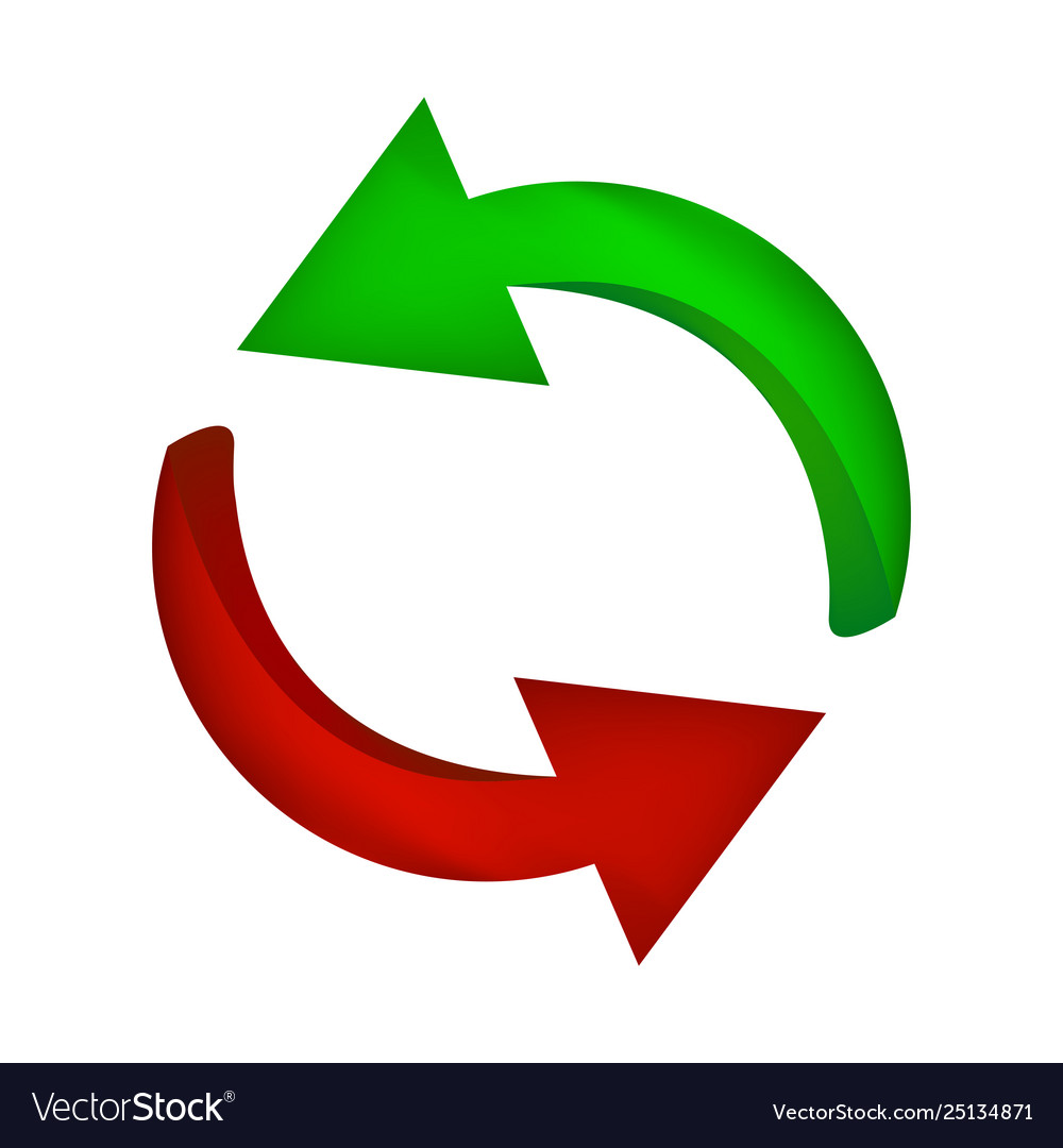 Arrow symbol red green icon clipart cycle.