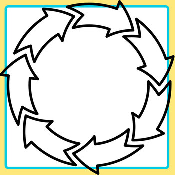 Restart or Cycle Arrows in a Circle Clip Art Set for Commercial Use.
