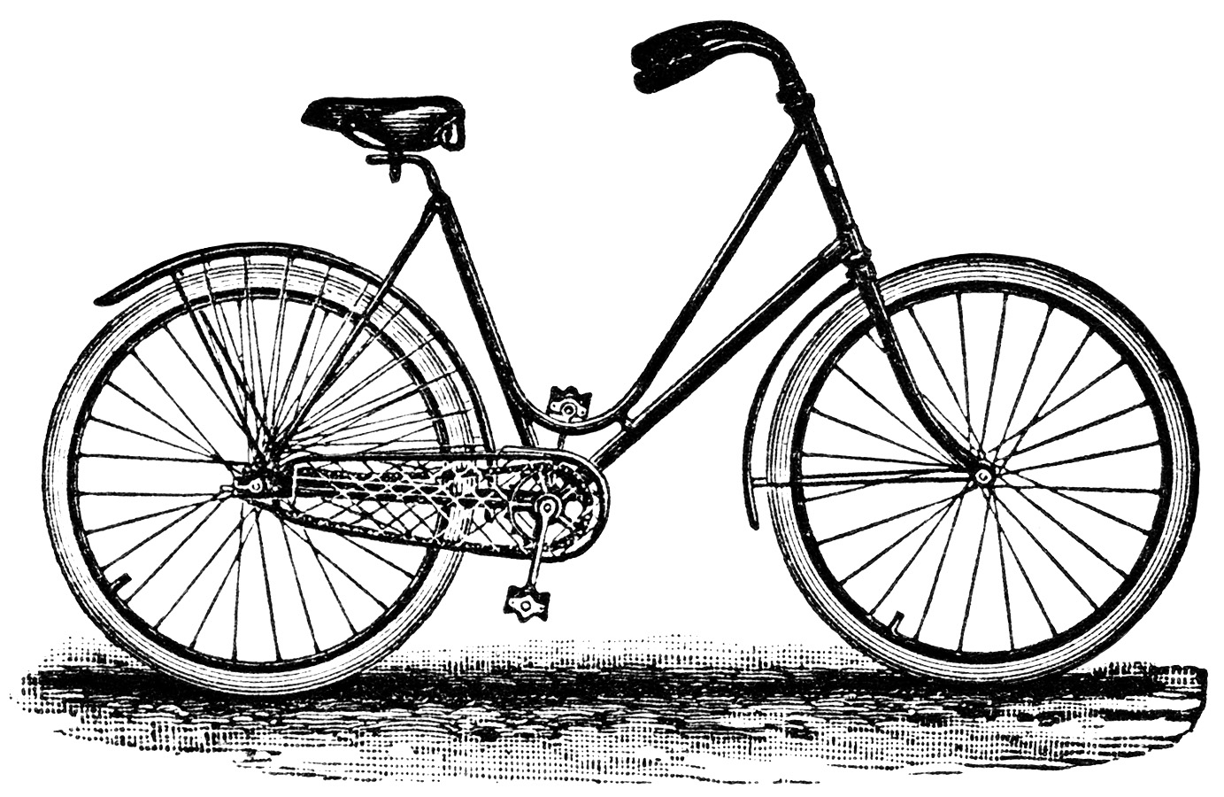 Vintage Bicycle Clipart.