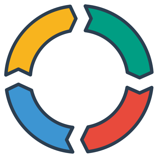 Analytics, business, cycle, deming, management, pdca, planning icon.