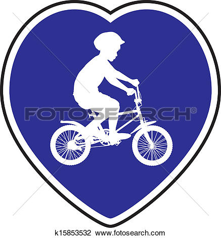 Clipart of Cycle Path k15853532.
