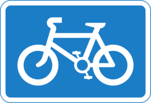 Bike path clipart.