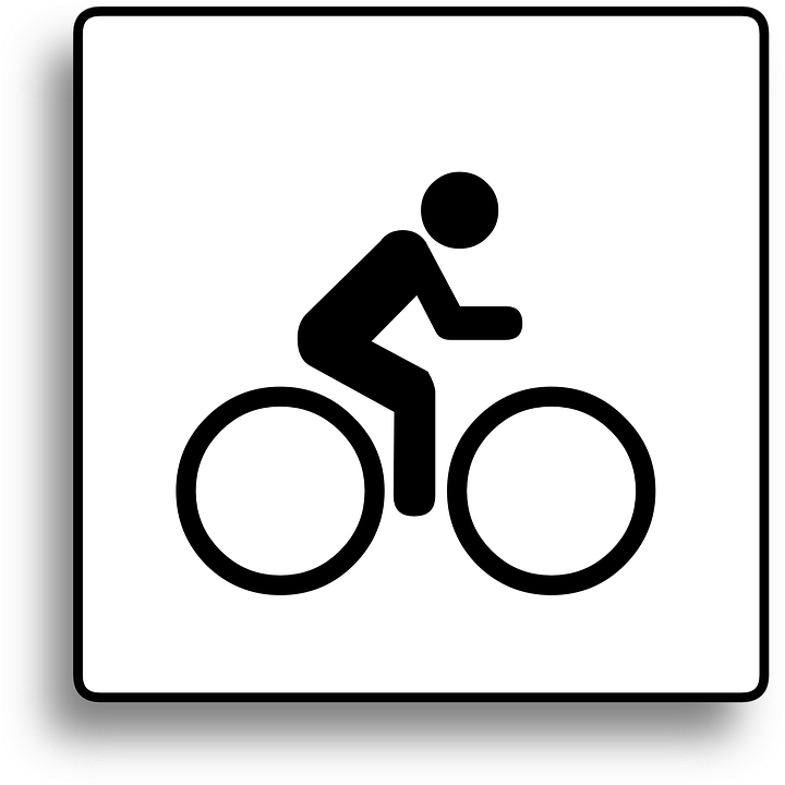 Cycle path signs clipart #13
