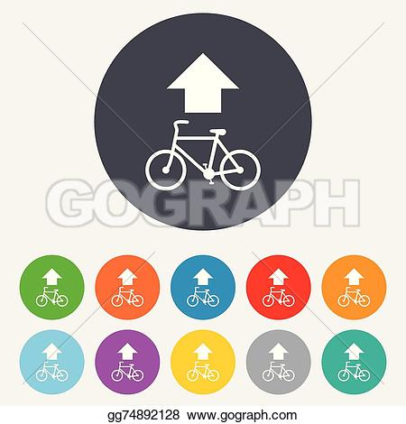 Cycle path signs clipart #7