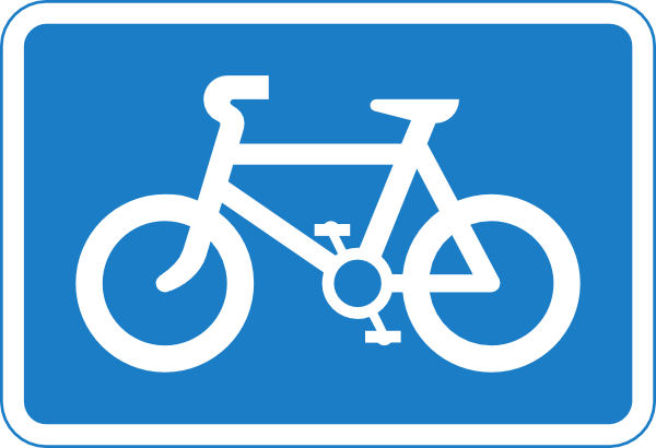 Cycle path signs clipart #4