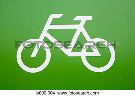 Stock Photo of Cycle path sign is890.